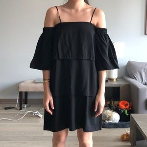 Editor's Market Black Linen Dress Medium